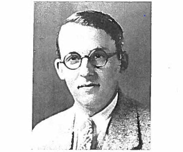 Maurice Halperin, in a yearbook photo from the 1926-27 Ranger (TX) College yearbook. Halperin taught at Ranger College before coming to OU.