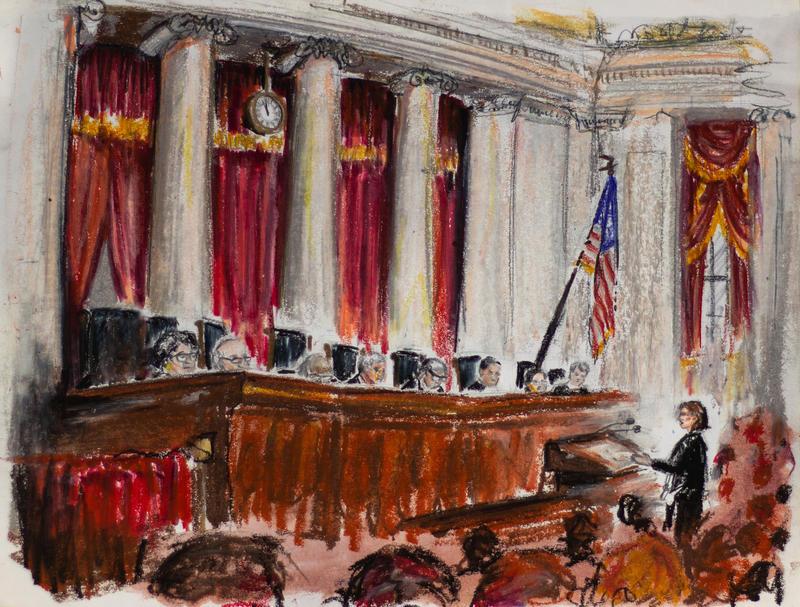 U.S. Supreme Court justices listen to arguments in the Murphy v Carpenter case on Nov. 27, 2018.