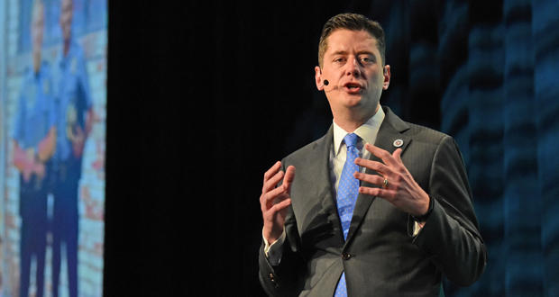 Mayor David Holt makes his first State of the City address Thursday at the Cox Convention Center in downtown Oklahoma City.