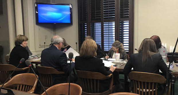 Members of the Oklahoma Ethics Commission meet Friday in Oklahoma City.