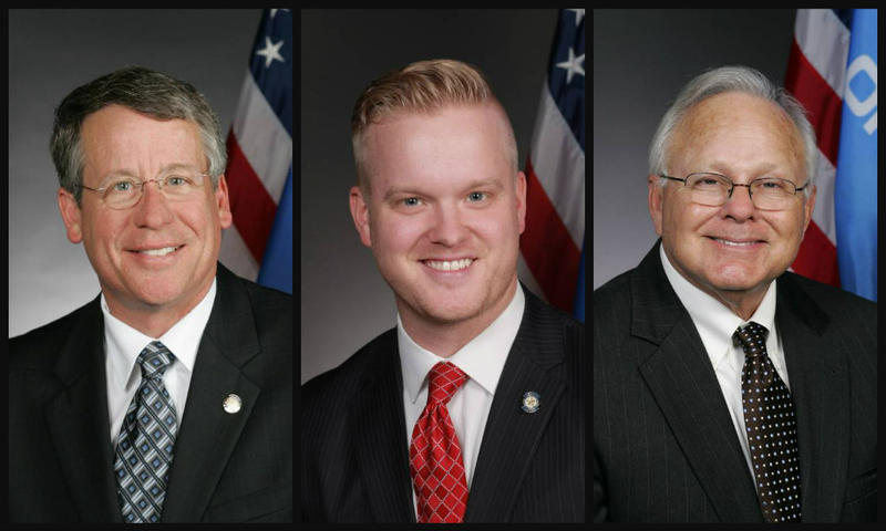 Former state representatives, from left, Pat Ownbey, Josh Cockroft and Bobby Cleveland became lobbyists after serving as legislators last session.