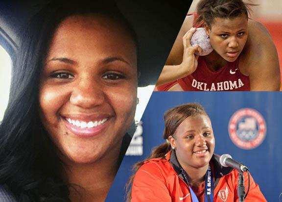 The many sides of Tia Brooks. Olympian, collegiate athlete, and college student.