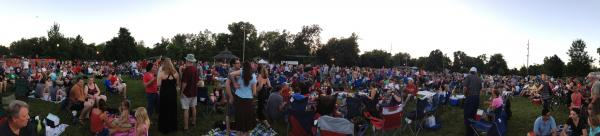 "The ""community"" of Norman, Ok... gathering for a 2013 Summer Breeze concert."