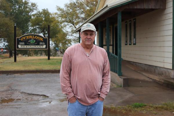 Alan Cox had to close his Overlook Cafe early due to poor lake tourism.