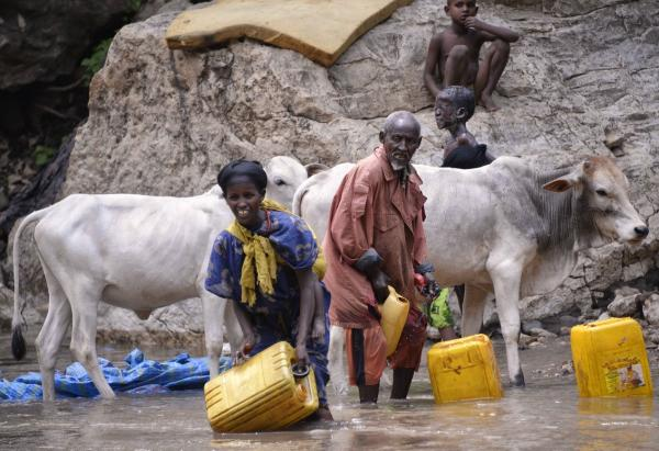 Villagers gather drinking water in Sof Omer, Ethiopia.