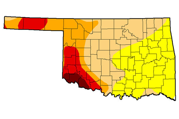 Most Of The State Abnormally Dry As Drought Creeps East Into ...