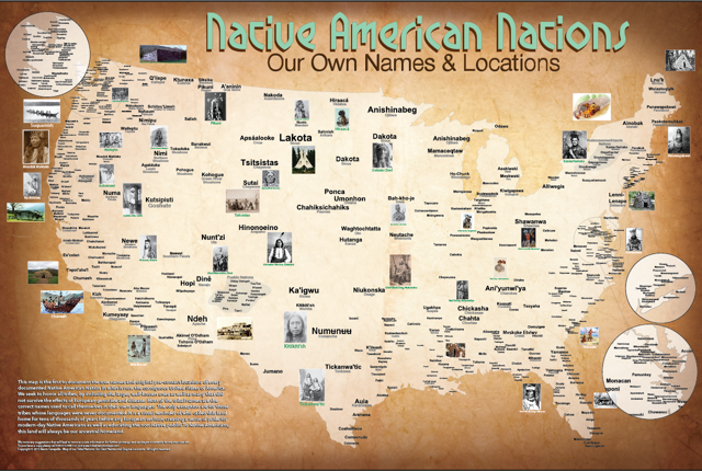 cherokee makes a living map showing pre contact native america