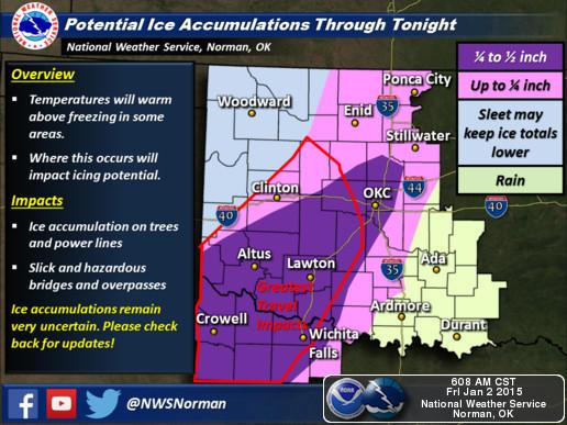 Freezing Rain Sleet Likely With Ice Storm Warning For