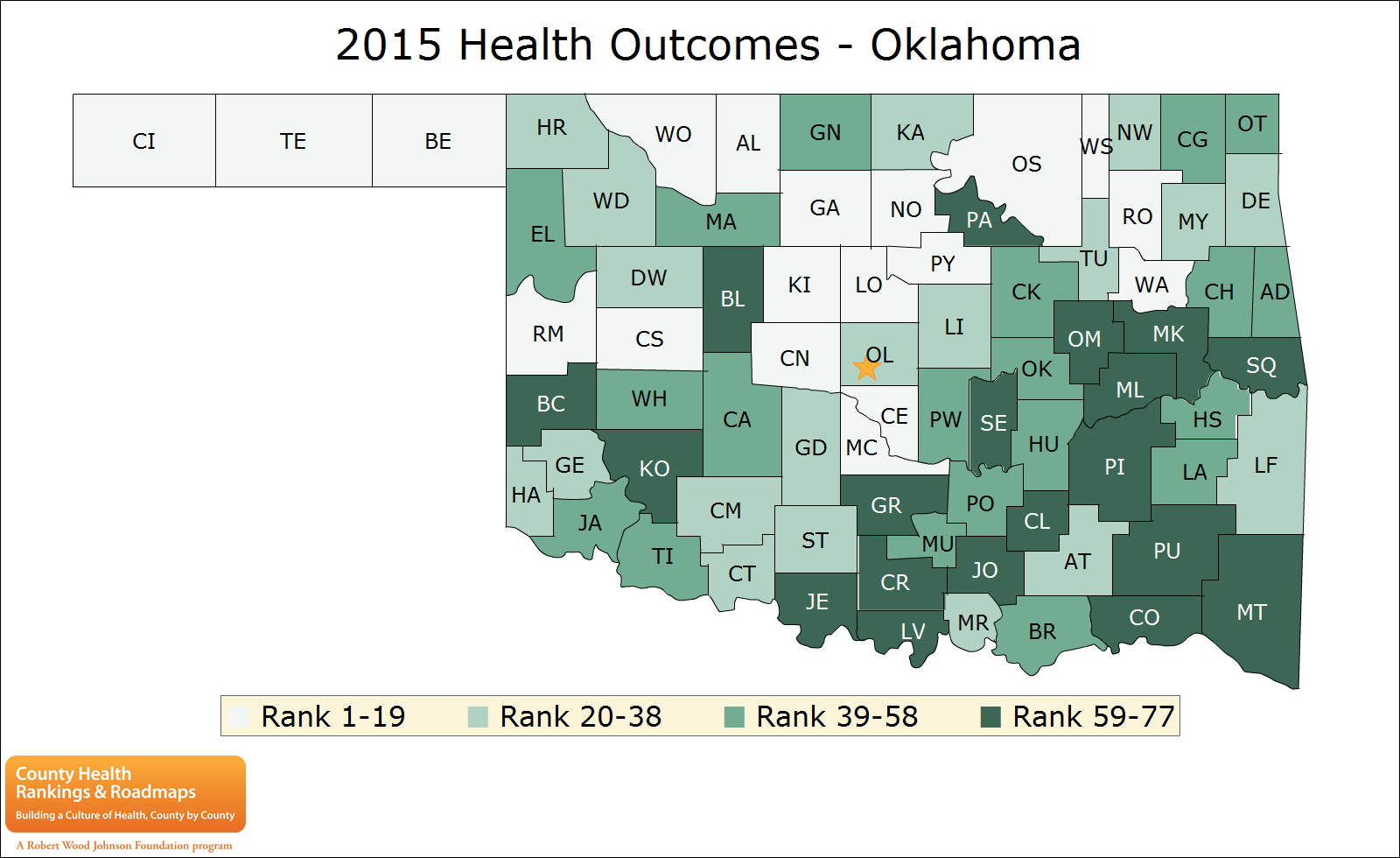 Kingfisher County Oklahoma Map.Study Finds Kingfisher County Healthiest In Oklahoma Jefferson