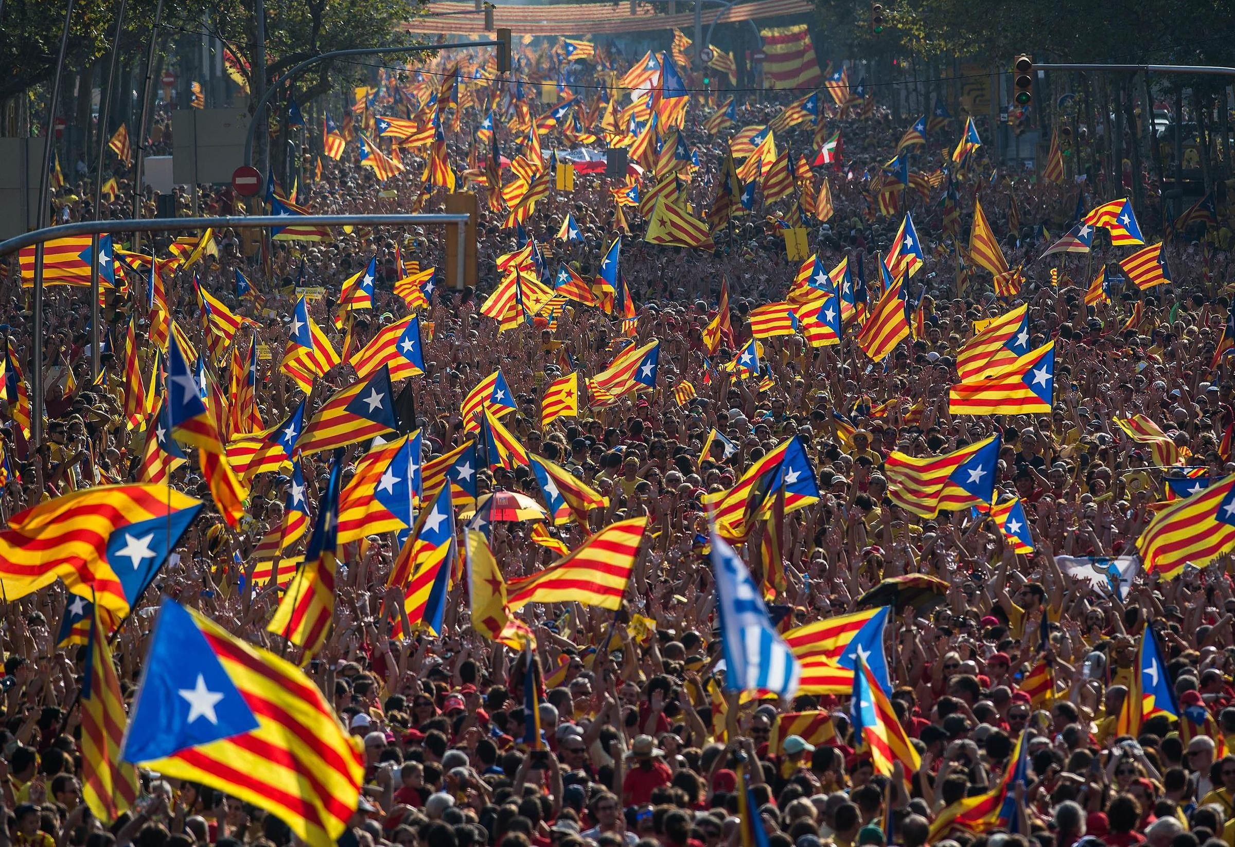 Image result for Catalonia Begins Bid for Independence