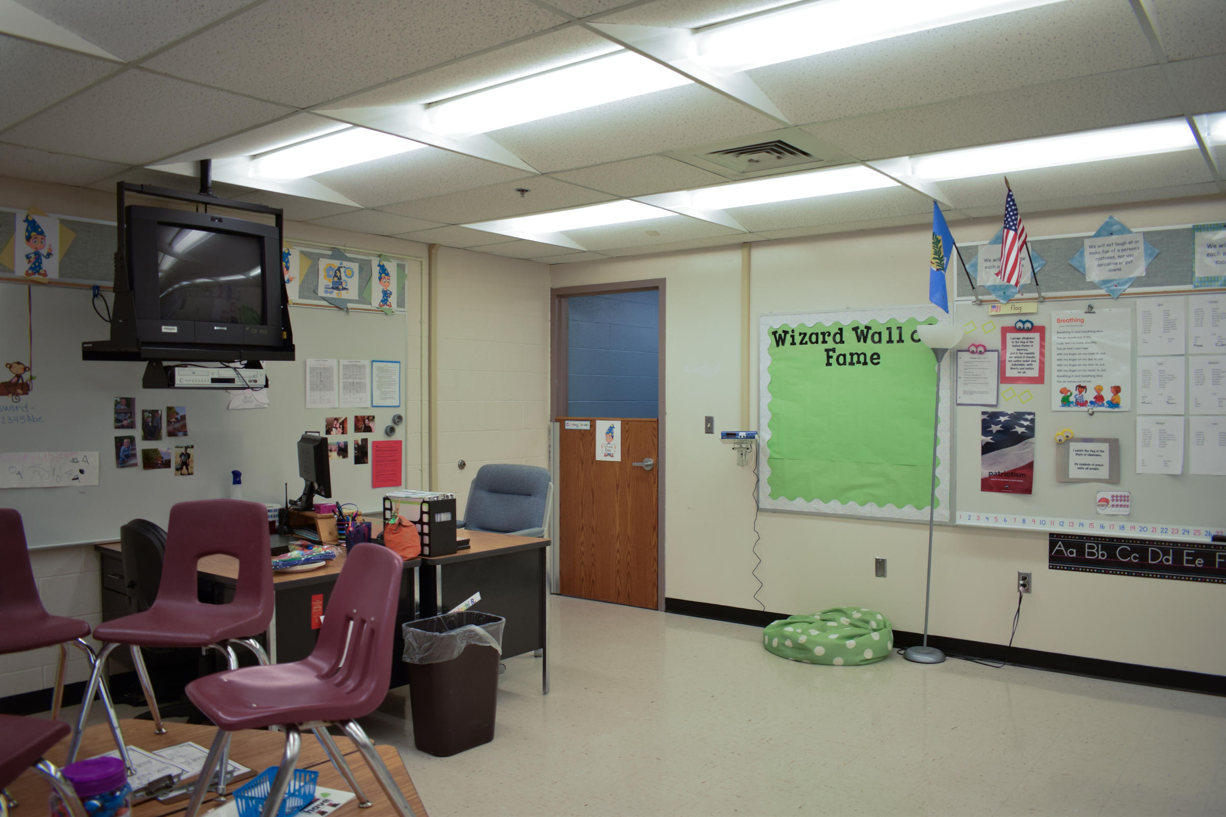 The Seclusion Room In This Mustang School Classroom Is At The Far Corner Of  The Classroom.