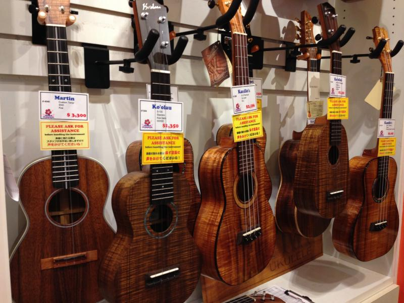 Hawaii-made ukuleles sell for $800 to $1,500 each.