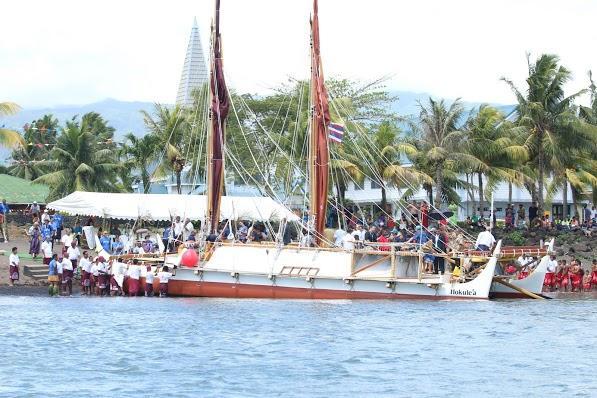 Hōkūleʻa Image ® Polynesian Voyaging Society. Credit Oiwi TV