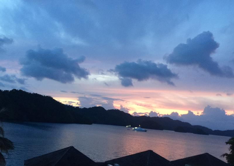 A view of sunset from the Palau Royal Resort.