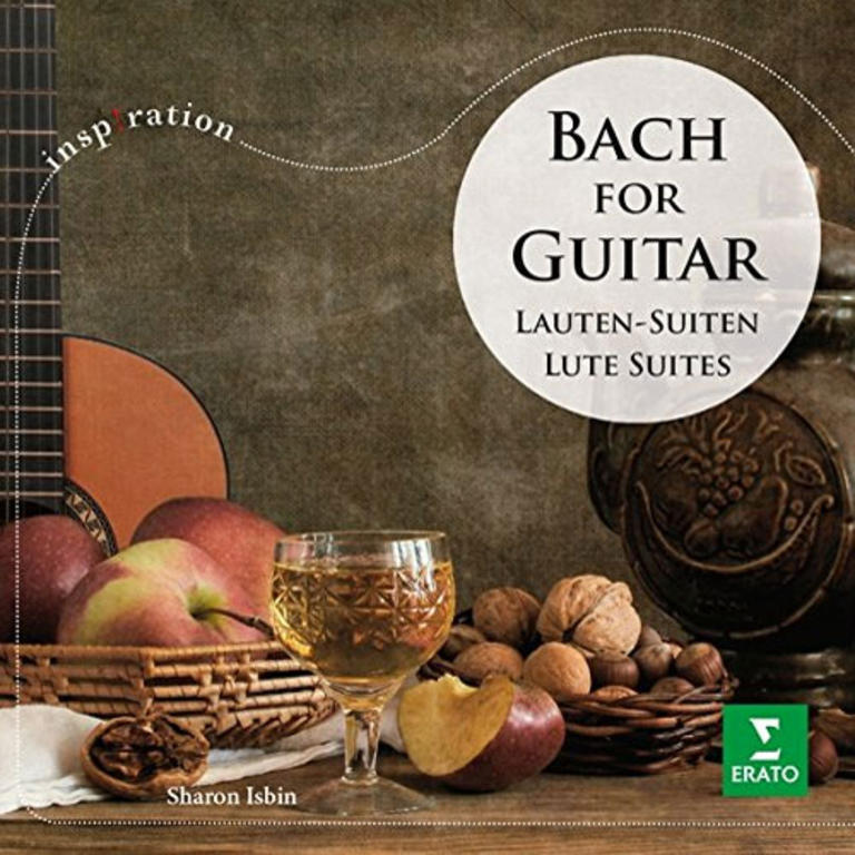 $10/month:CD: Bach for Guitar.  (Sharon Isbin, guitar.) Modern interpretations of the Bach Lute Suites. [Item#: S16CD101]