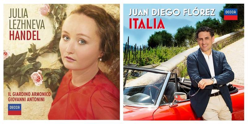 $60/Month:  2 CDs – Italia (Juan Diego Florez) & Handel Arias (Julia Lezhneva; Il Giardino Armonica; Giovanni Antonici, cond.) Today's leading tenor & an exciting new soprano. A two-pack for the vocal aficionado. [Item#: S16CD108]