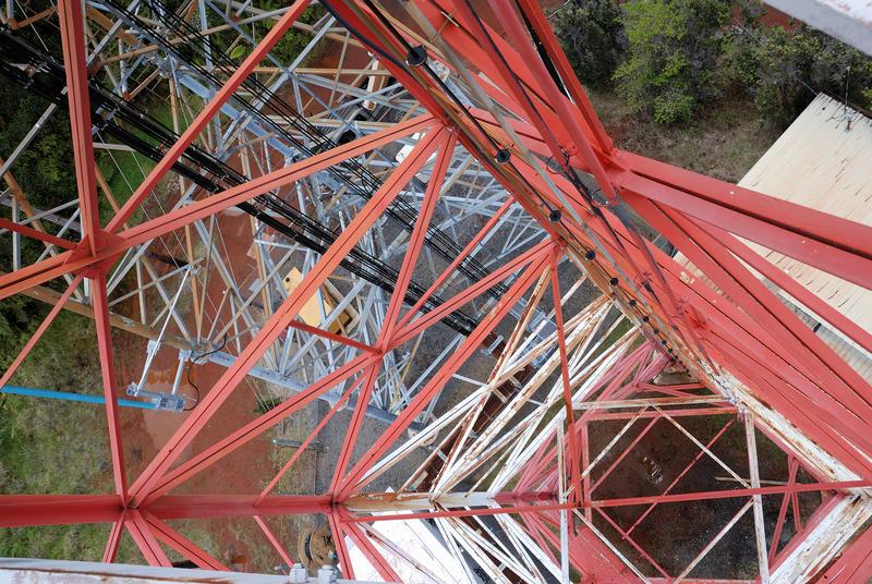 Inside HPR tower on Kulani Cone