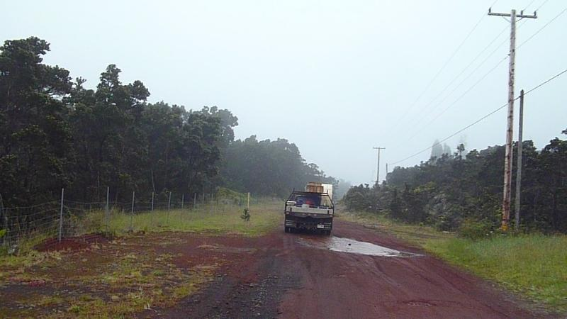 Heading up to Kulani Cone, above the prison