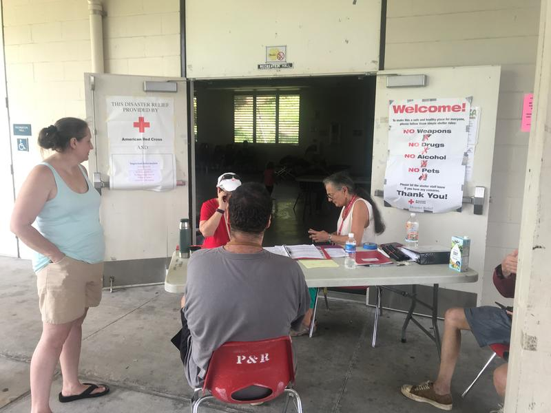 Red Cross Shelter at Pahoa Community Center