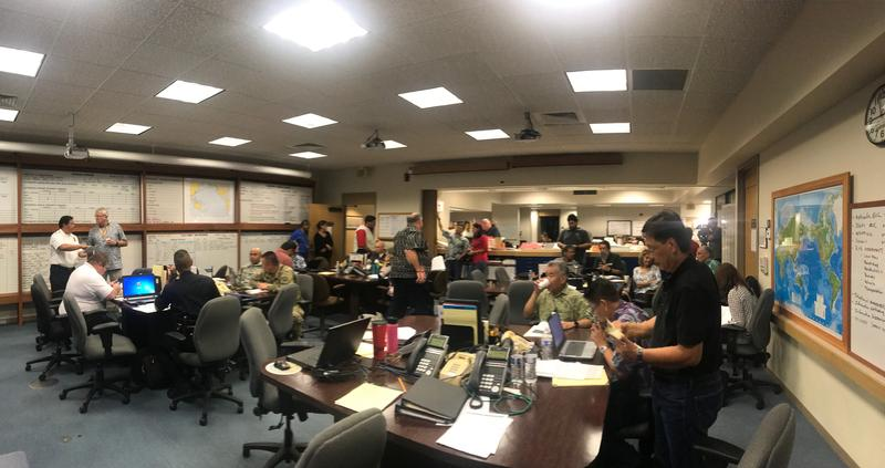Hawaii County Civil Defense's Operation Center