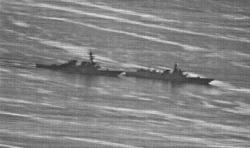 Photos show how close Chinese warship came to colliding with US destroyer