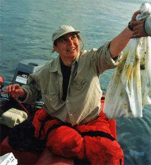 Dr. Dawn Goley at sea.