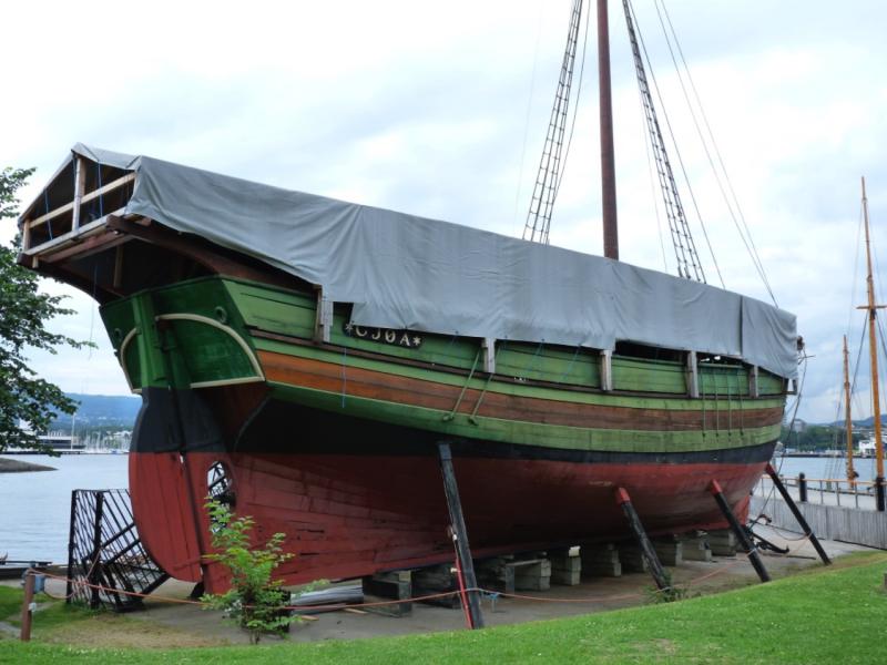 Roald Amundsen's  Amundsen's Gjøa was the first known boat to travel through the Northwest Passage in 1903-1906.