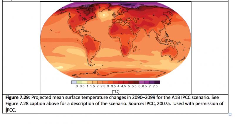 Global heat forecast