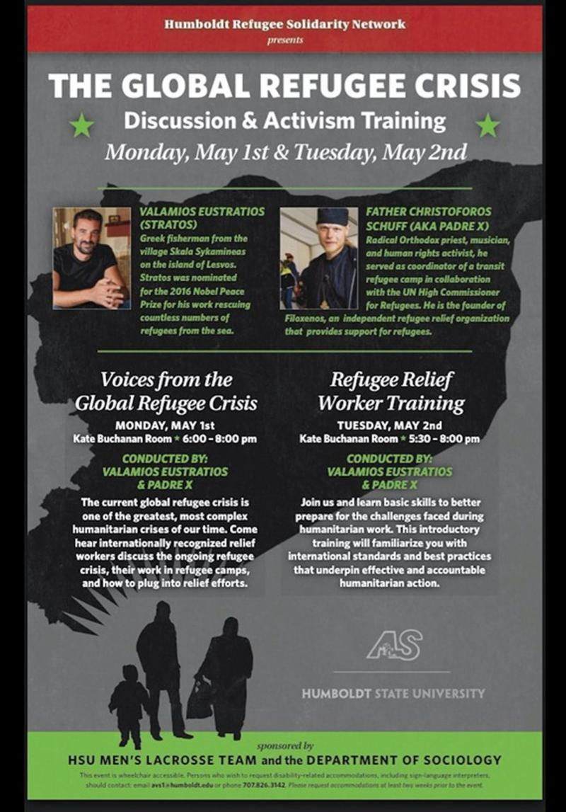 Global Refugee Crisis Discussion and Training at HSU Flyer