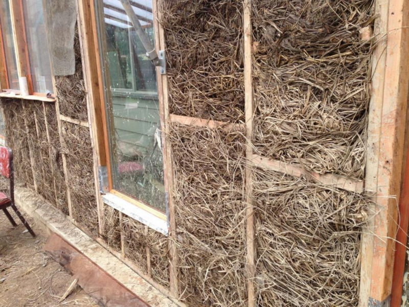Campus Center for Appropriate Technology (CCAT) and beachgrass insulation