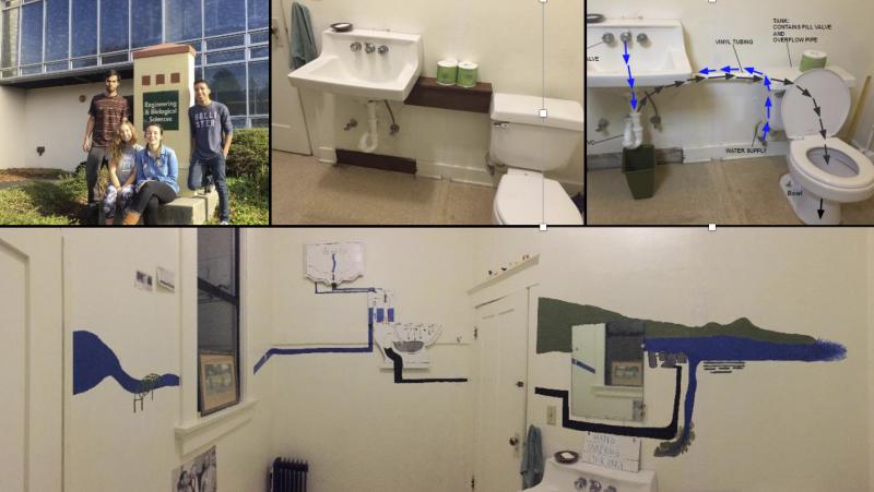 Arcata Sanctuary's water-saving restroom