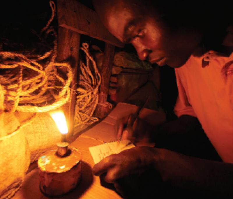 Kerosene wick lamp