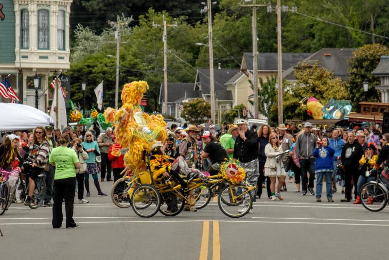 The race ends on Ferndale's Main Street Monday May 28th