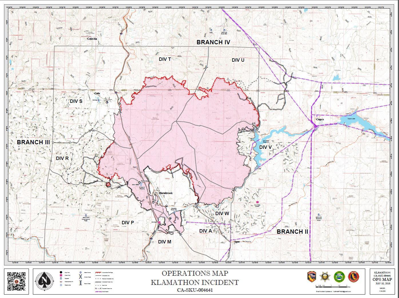 Fire Map California July 2018.Klamathon Fire At 55 Percent Contained Khsu