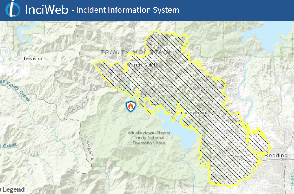 Cal Oes Fire Map.Carr Fire Evacuation Areas Centers And Map Of Fire Khsu