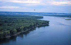 The Missouri River at Bismarck, ND.