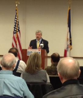 Iowa Gov. Terry Branstad discussed jobs, health care, and education during a town hall meeting Thursday in Council Bluffs.