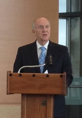 Omaha Mayor Jim Suttle gives his State of the City address Thursday at UNMC.