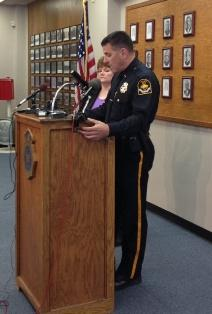OPD Chief Todd Schmaderer and Deputy Chief Mary Newman update the Brumback murders Monday afternoon.