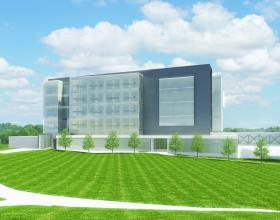 A rendering of the Lozier Center for Pharmacy Sciences and Education and Center for Drug Discovery.