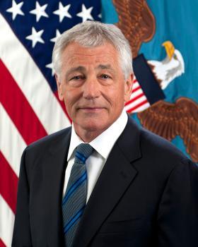 Secretary of Defense Chuck Hagel.