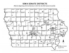 Iowa's State Senate districts.