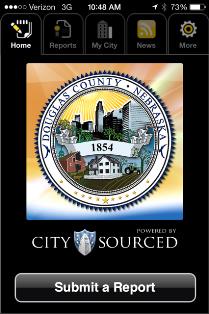 """Douglas County's new """"Citizen Connect"""" app."""