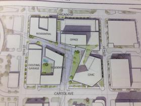 Plans for the Civic Auditorium site include office, residential, and retail space.
