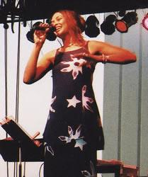 Angela Hagenbach performing in Omaha, 2003. Photo Credit: Chris Cooke.