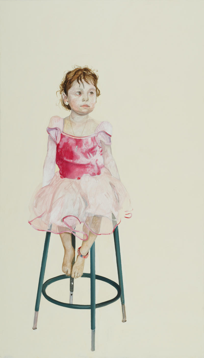 One of the works featured in Mark Gilbert's exhibition is that of a young girl named Daisy.