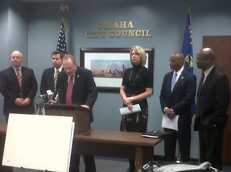 The Omaha City Council holds a news conference Monday to discuss amendments to the police union contract.