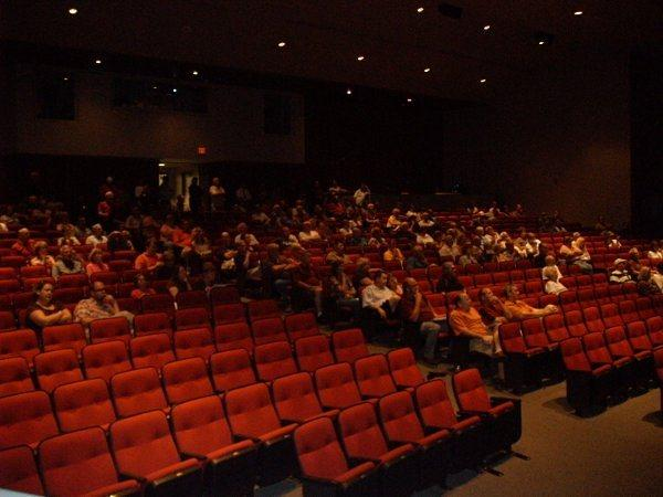 About 250 people attended the first community budget forum Thursday at Millard South High School.