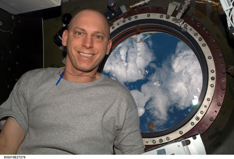 Astronaut Clay Anderson, an Ashland native, on board the International Space Station in 2007.