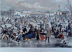 """Central Park Winter\"" by Currier and Ives, 1862."